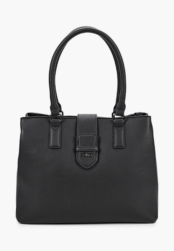 женская сумка с ручками s.oliver, черная