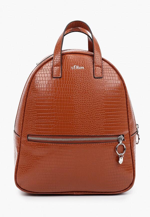 женский рюкзак s.oliver, коричневый