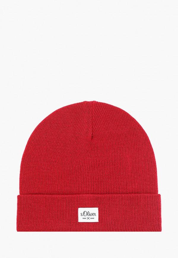 мужская шапка s.oliver, красная