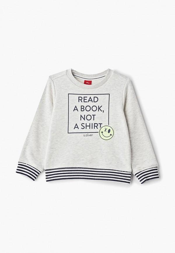 Купить Свитшот s.Oliver, so917ebdqor4, серый, Весна-лето 2019