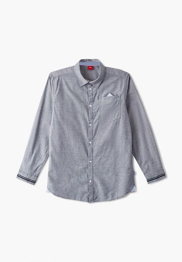 рубашка s.oliver для мальчика, серая