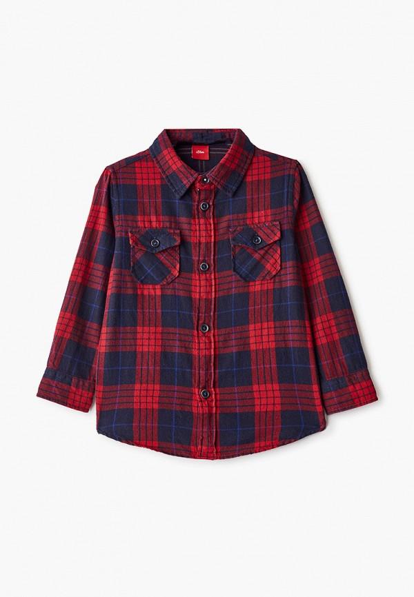 рубашка s.oliver для мальчика, красная
