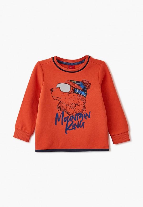 свитшот s.oliver для мальчика, оранжевый