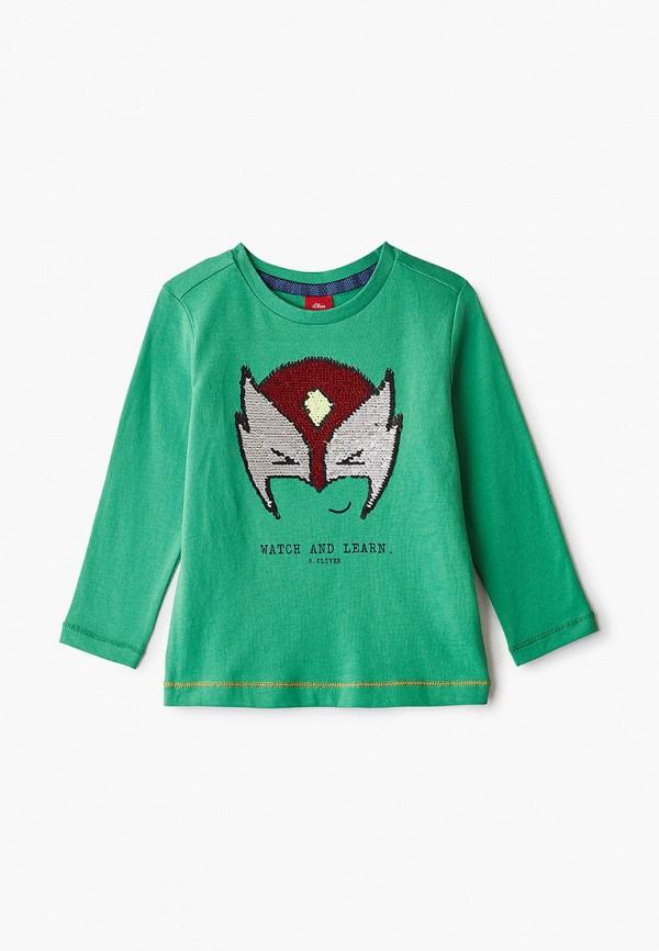лонгслив s.oliver для мальчика, зеленый