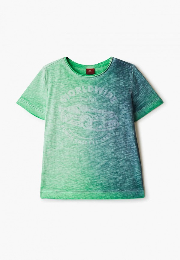 футболка с коротким рукавом s.oliver для мальчика, зеленая