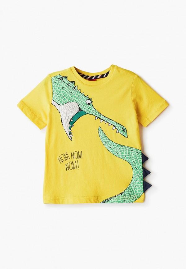 футболка с коротким рукавом s.oliver для мальчика, желтая