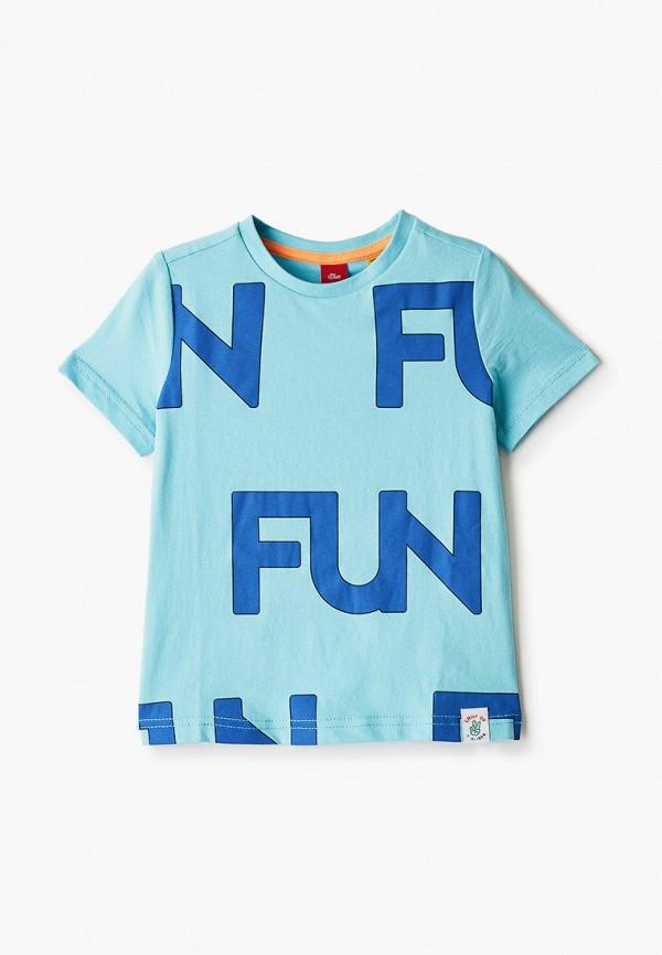 футболка с коротким рукавом s.oliver для мальчика, голубая