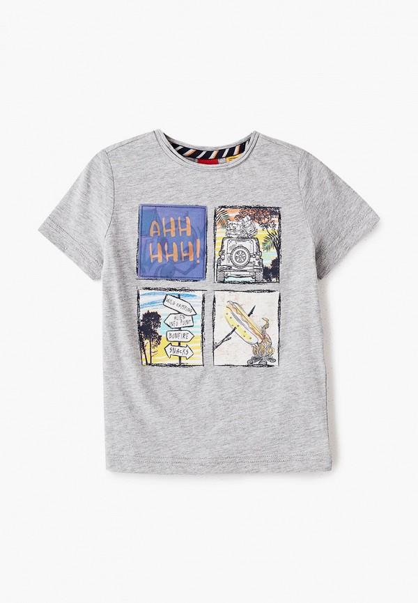 футболка с коротким рукавом s.oliver для мальчика, серая
