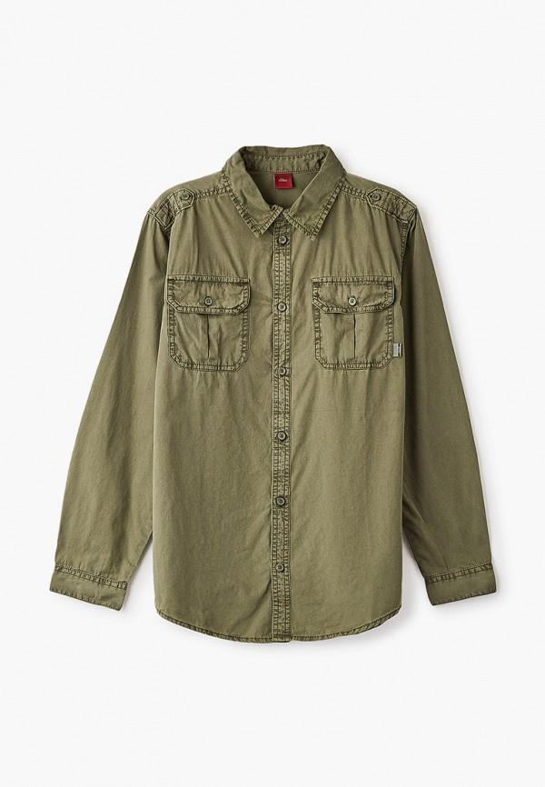 рубашка s.oliver для мальчика, хаки