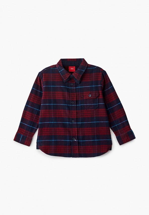 рубашка s.oliver для мальчика, бордовая