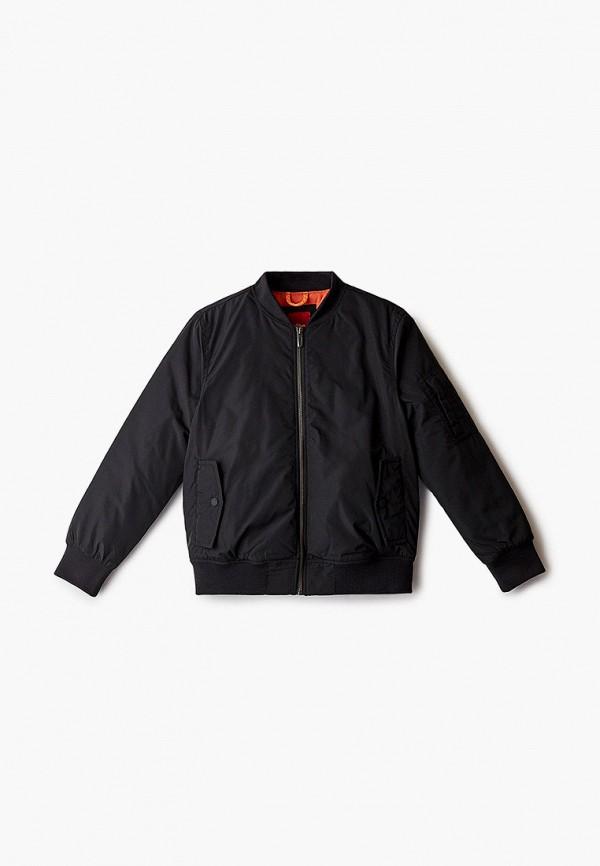 утепленные куртка s.oliver для мальчика, черная