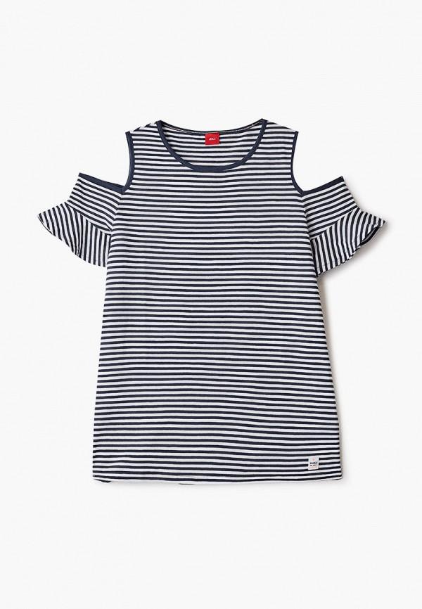 футболка с коротким рукавом s.oliver для девочки, синяя