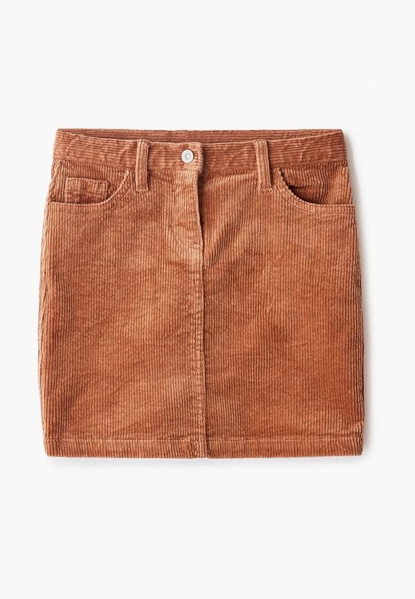 юбка s.oliver для девочки, коричневая