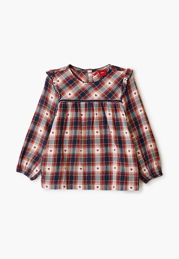 блузка s.oliver для девочки, красная