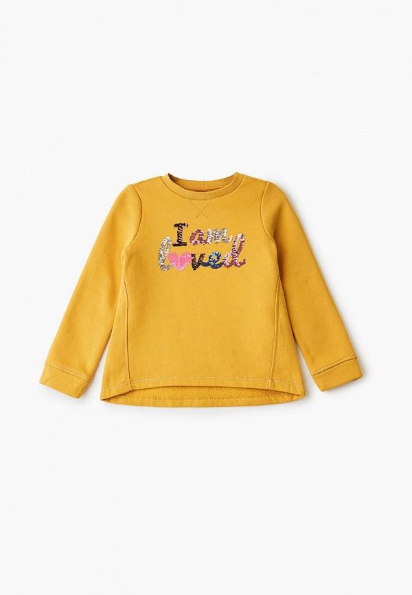 свитшот s.oliver для девочки, желтый