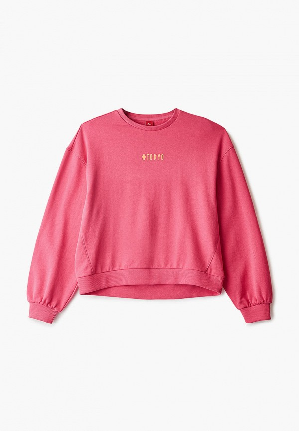 свитшот s.oliver для девочки, розовый