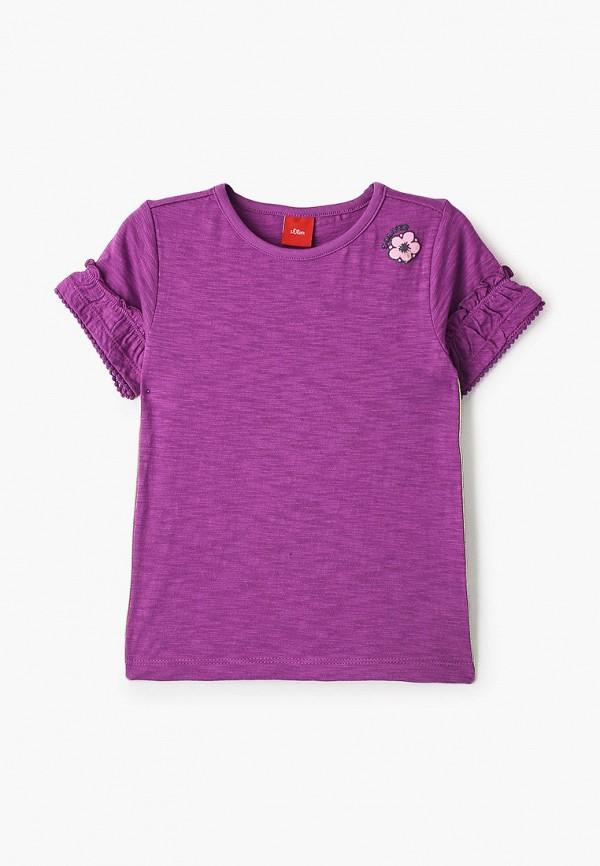 футболка с коротким рукавом s.oliver для девочки, фиолетовая