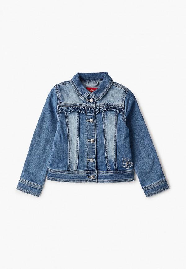 джинсовые куртка s.oliver для девочки, синяя