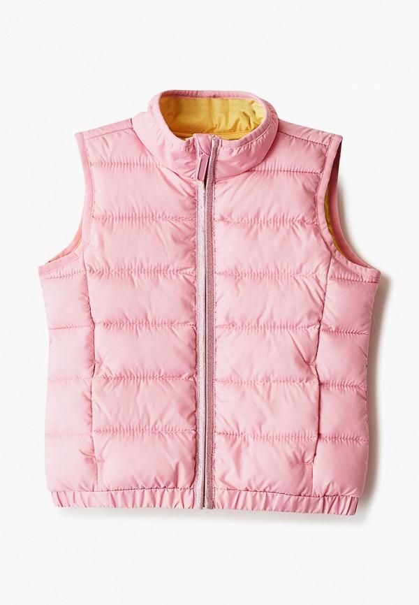 утепленные жилет s.oliver для девочки, розовый