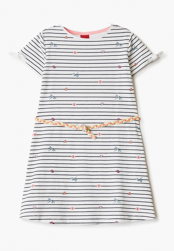 повседневные платье s.oliver для девочки, белое