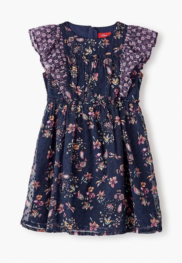 повседневные платье s.oliver для девочки, синее