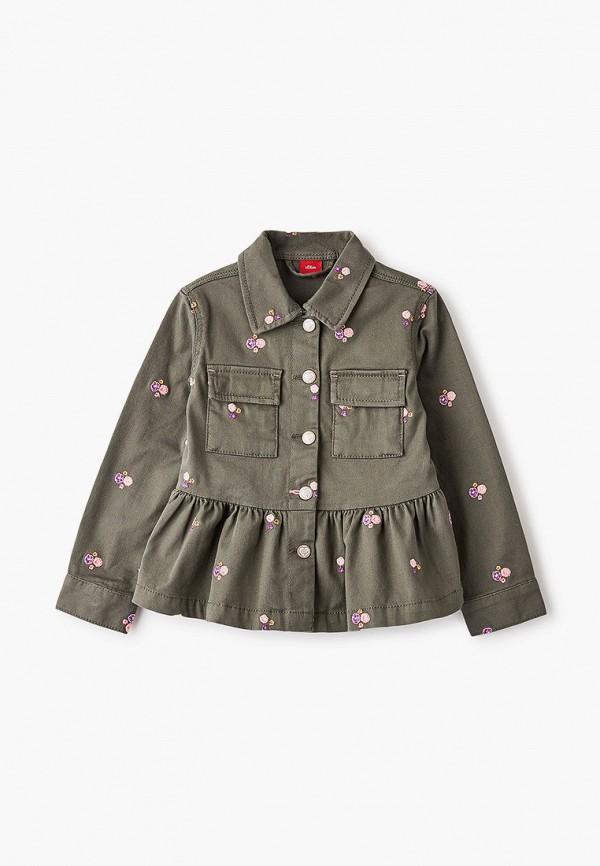 легкие куртка s.oliver для девочки, хаки
