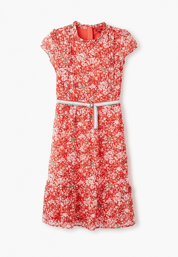 повседневные платье s.oliver для девочки, красное