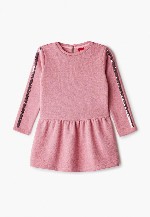 повседневные платье s.oliver для девочки, розовое