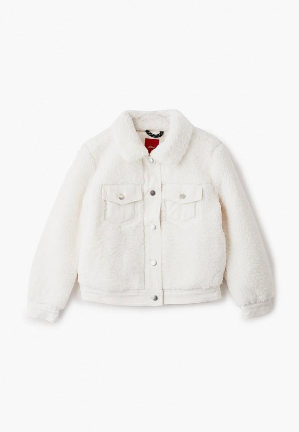 утепленные куртка s.oliver для девочки, белая