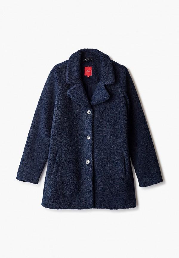 пальто s.oliver для девочки, синее