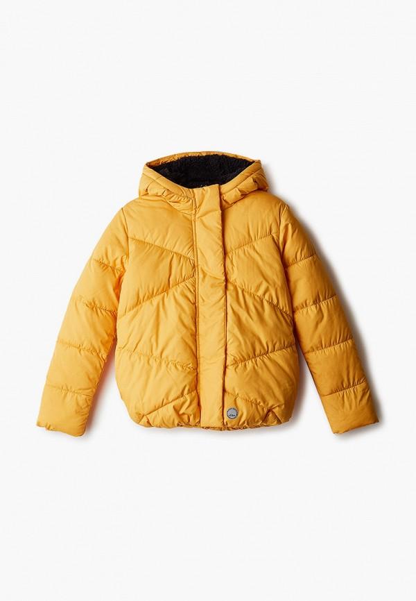 утепленные куртка s.oliver для девочки, желтая