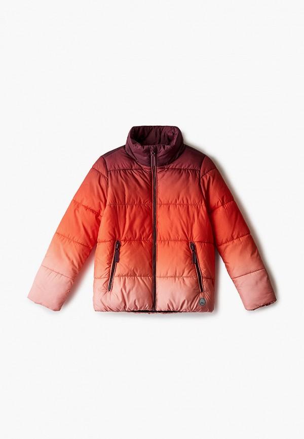 утепленные куртка s.oliver для девочки, красная