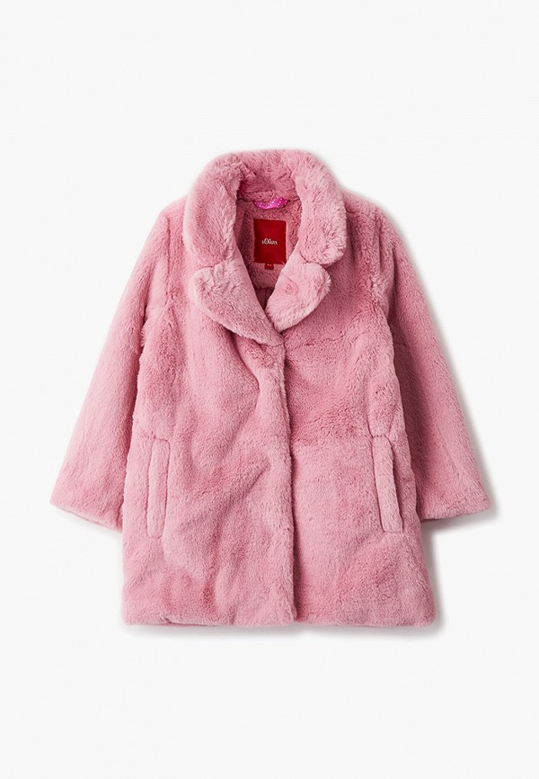 шуба s.oliver для девочки, розовая
