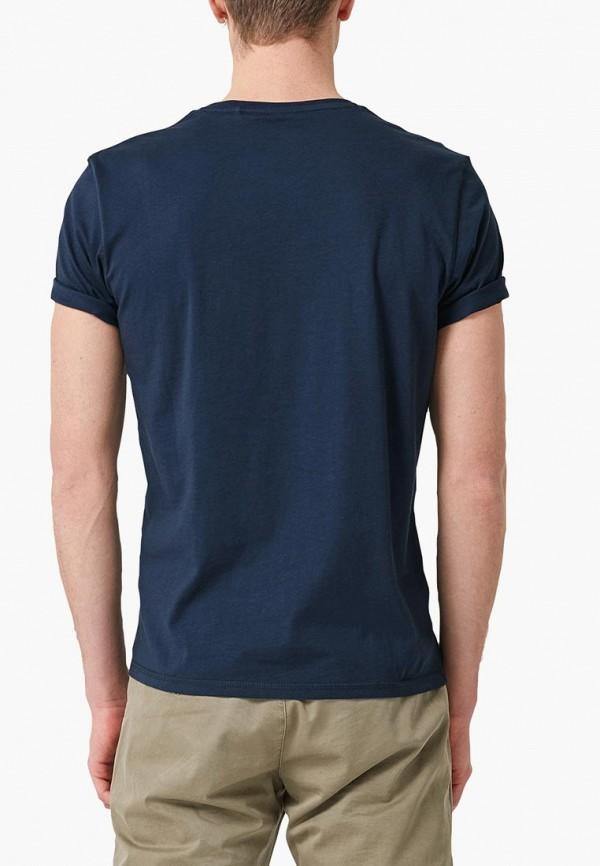 Фото 2 - мужскую футболку s.Oliver синего цвета