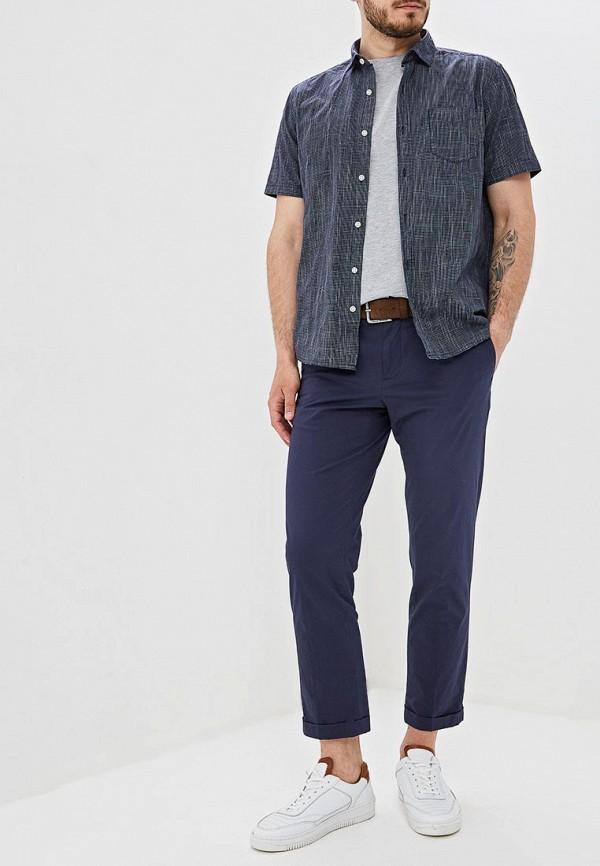 Фото 2 - Мужскую рубашку s.Oliver синего цвета