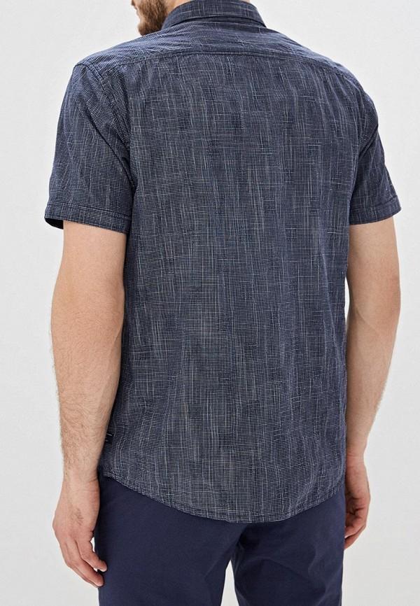 Фото 3 - Мужскую рубашку s.Oliver синего цвета