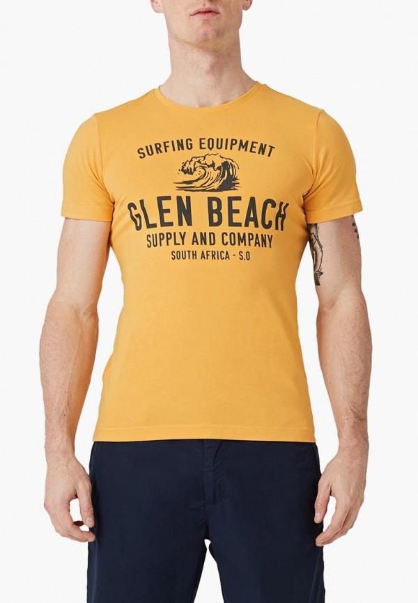 мужская футболка с коротким рукавом s.oliver, желтая