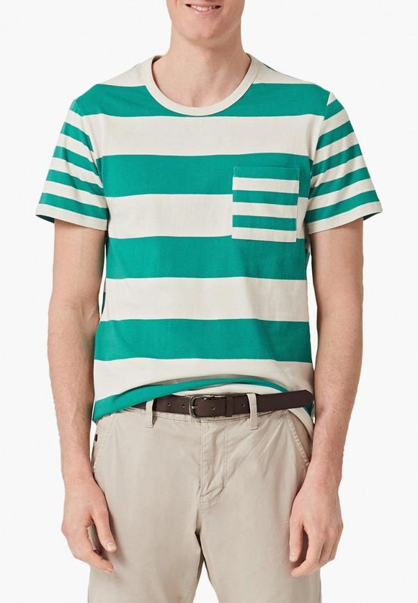 мужская футболка с коротким рукавом s.oliver, разноцветная