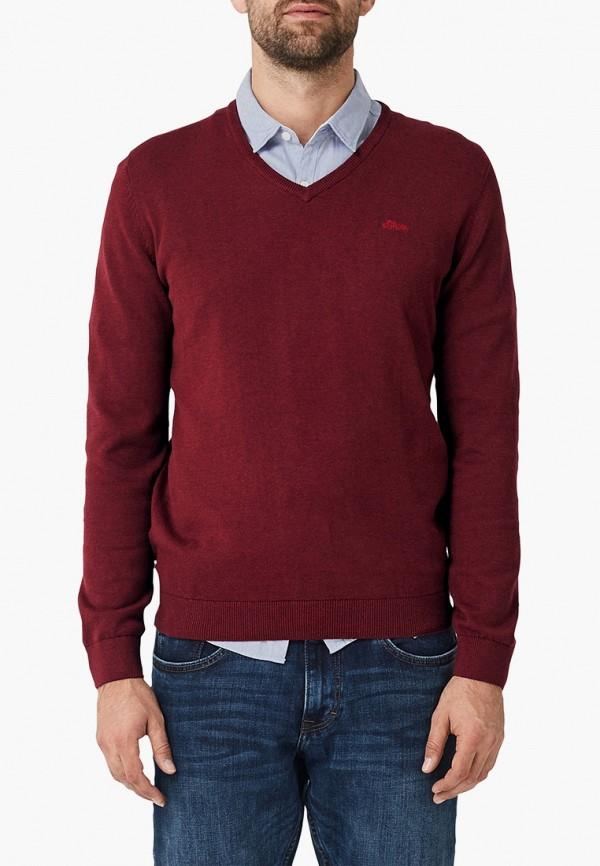мужской пуловер s.oliver, бордовый