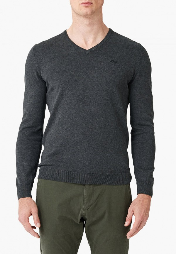 мужской пуловер s.oliver, черный