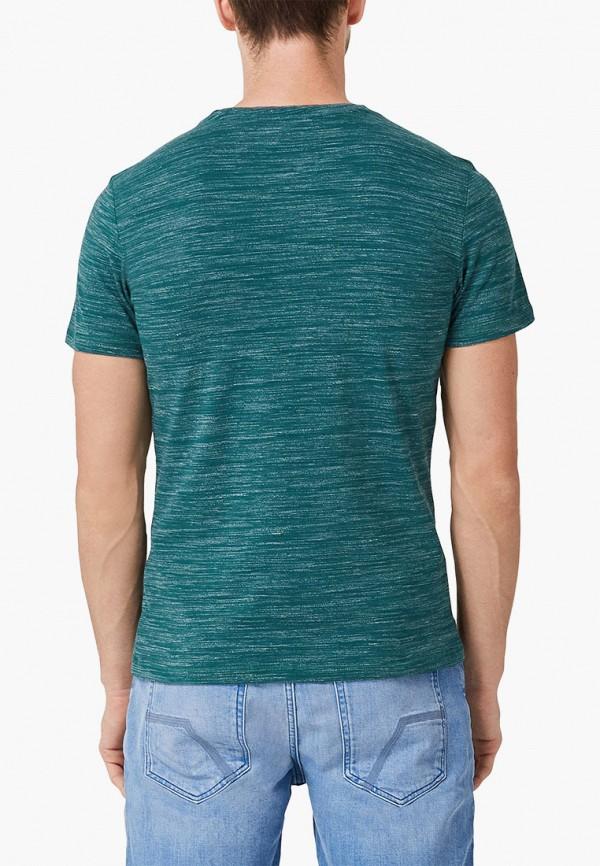 Фото 3 - Мужскую футболку s.Oliver бирюзового цвета