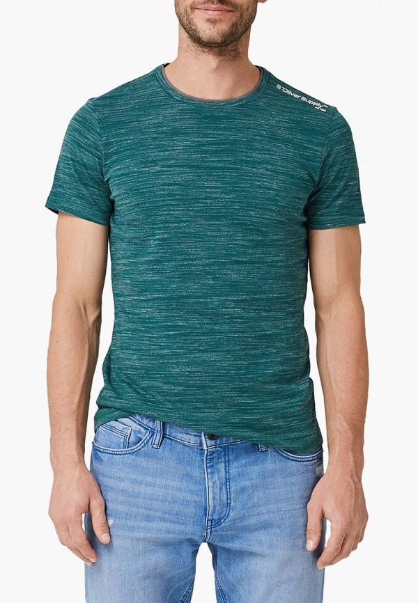Фото - Мужскую футболку s.Oliver бирюзового цвета
