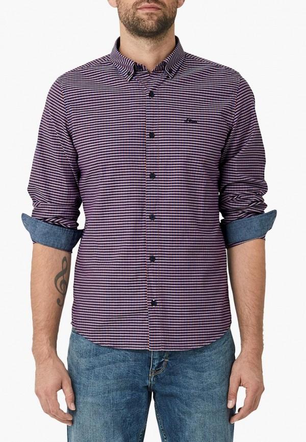 мужская рубашка с длинным рукавом s.oliver, фиолетовая