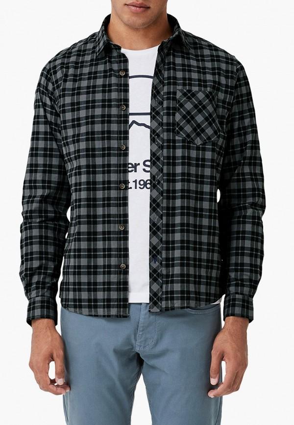 мужская рубашка с длинным рукавом s.oliver, черная
