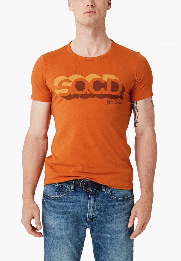мужская футболка с коротким рукавом s.oliver, розовая