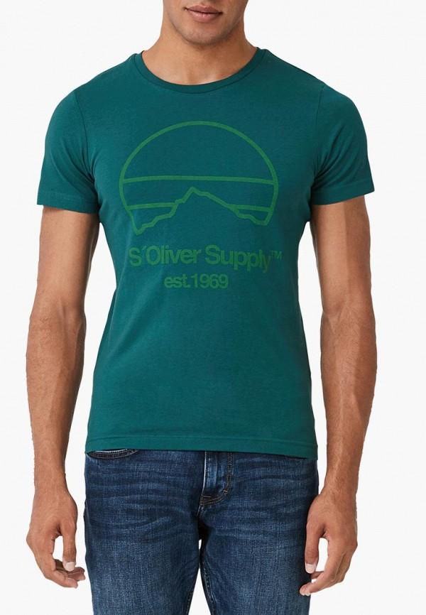 мужская футболка с коротким рукавом s.oliver, бирюзовая