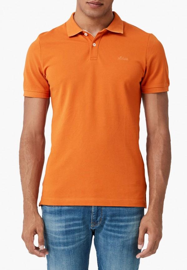 мужское поло s.oliver, оранжевое