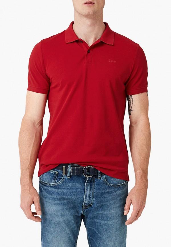 мужское поло s.oliver, красное