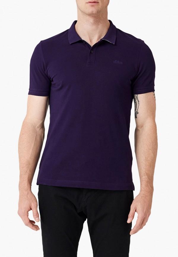 мужское поло s.oliver, фиолетовое