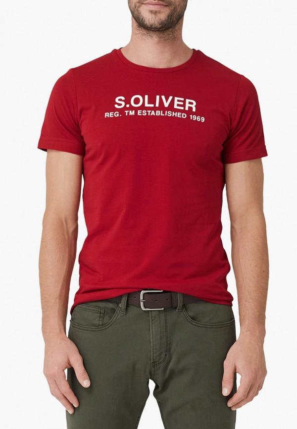 мужская футболка с коротким рукавом s.oliver, красная